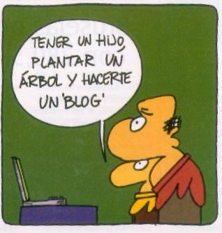 Tener un hijo, Plantar un árbol y hacer un blog