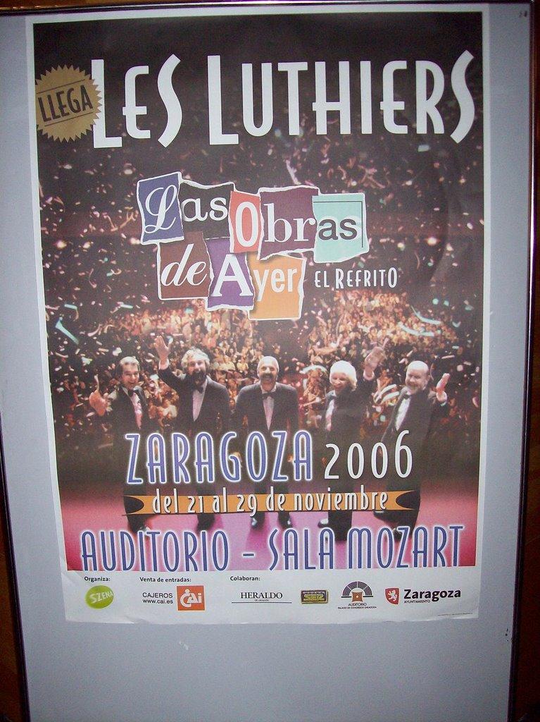 Les Luthiers en Zaragoza