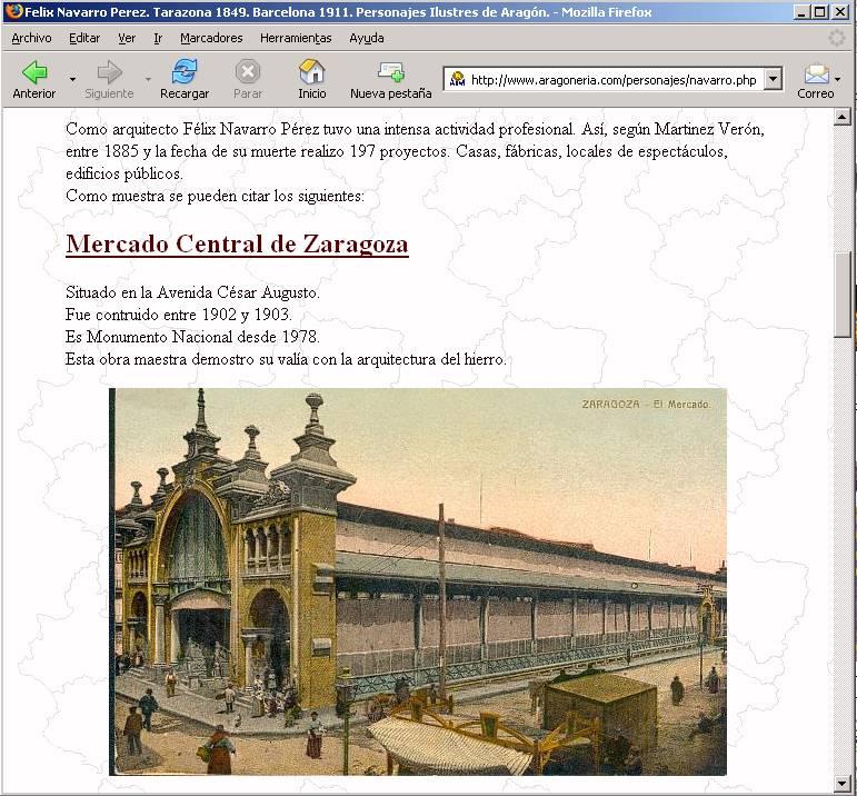 Página de Felix Navarro plagiadas para el Gobierno de Aragón 2