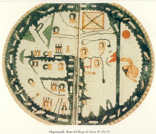 Mapamundi del Beato del Burgo de Osma