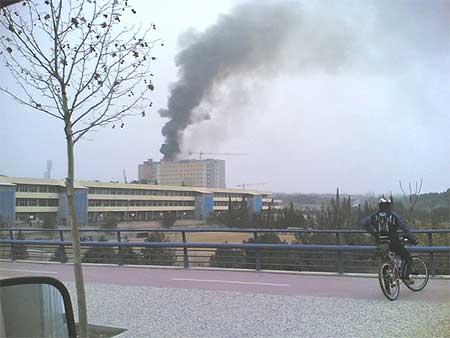 Incendio en el Hospital Miguel Servet de Zaragoza
