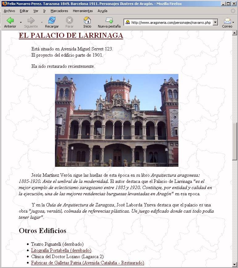 Página de Felix Navarro plagiadas para el Gobierno de Aragón 3