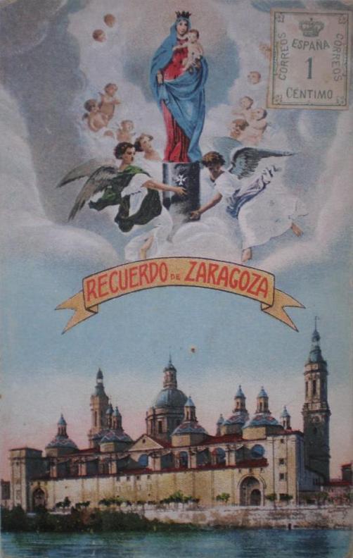 Recuerdo de Zaragoza y la Virgen del Pilar.